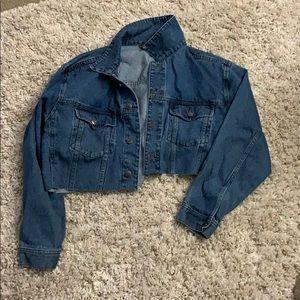 Jean jacket crop top